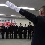 加須市職員によるエールを受ける花咲徳栄高校の選手ら
